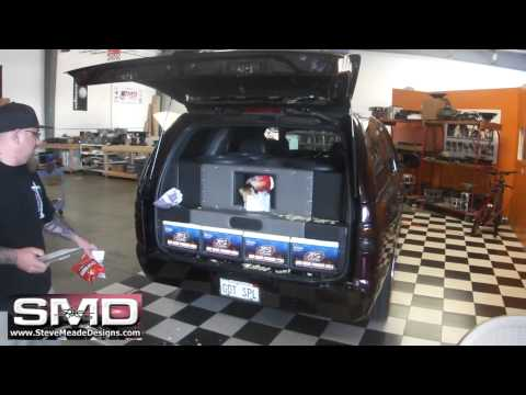 "SOUND SYSTEM BASS DISINTEGRATES BAG OF CHIPS - 4 18"" woofers 30,000 Watts"