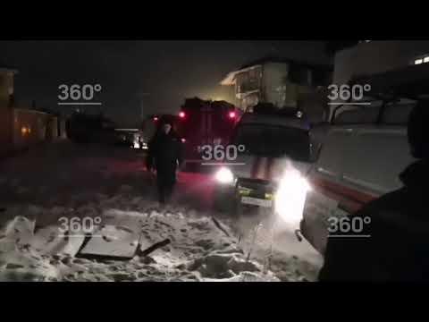 Взрыв дома в Красноярске: первые видео с места взрыва бытового газа
