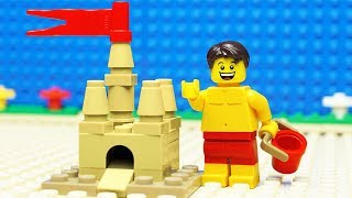 Lego Build A Sand Castle   At The Beach