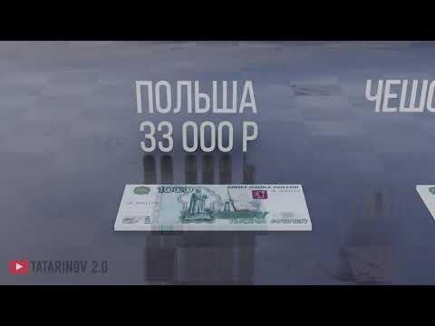 Минимальная Зарплата В России И Странах Европы! Сравнение За Месяц!