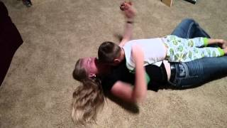 2015 08 29 Cruz tickle wrestle with Mom