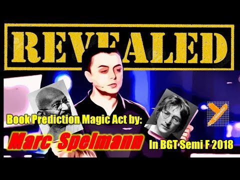 Revealed:  Marc Spelmann (Book Magic) in BGT Semi Finals 2018 (видео)