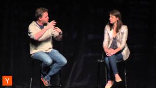 Michelle Zatlyn and Matthew Prince at Startup School SV 2014