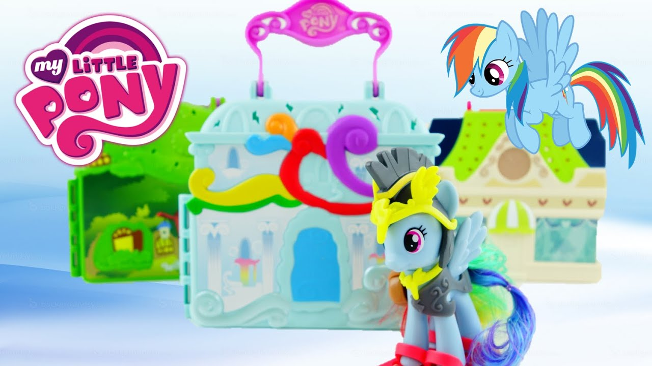 New 2016 My Little Pony Playset Rainbow Dash Cloudominium Explore Equestria