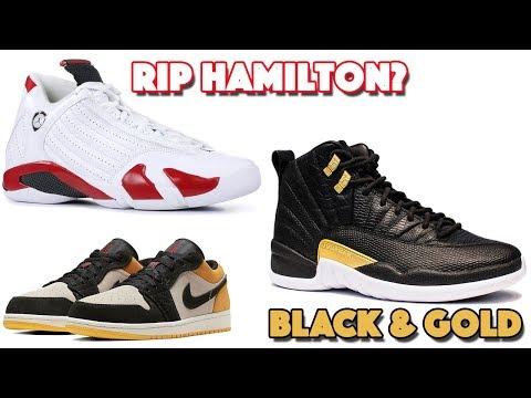 AIR JORDAN 14 RIP HAMILTON (CANDY CANE?) JORDAN 12 BLACK GOLD WITH REPTILE PRINTS AND MORE