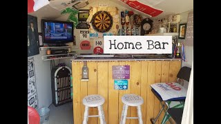Home Bar Upcycle Idea -  Peaky Blinders Themed - Home Pub