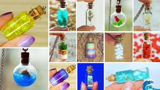 40 Mini Charm Bottles - Cutest Jewelry DIY! MINI CHARMS IN A BOTTLE!