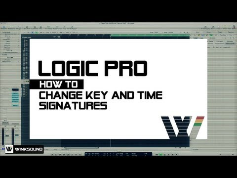 Logic Pro: How To Change Key And Time Signatures | WinkSound