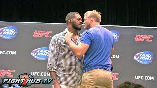 Jon Jones vs. Alexander Gustafsson: face off & press conference highlights