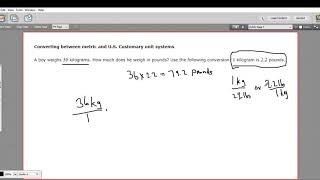 Converting between metric and US customary units