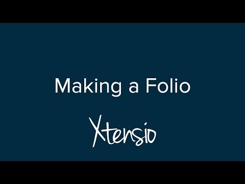 Getting Started: Making a Folio with Xtensio