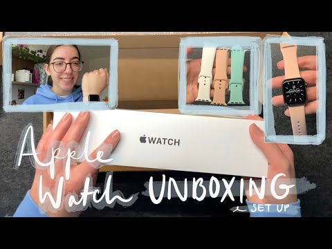 Apple Watch unboxing   SE, 40mm, space grey   Set up & accessories   FINA LUAN