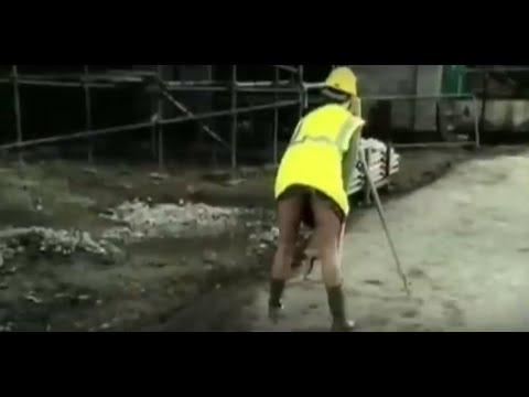 Lustige Werbung für Arbeitskleidung