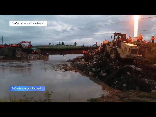 На Транссибе восстановили первый пролёт разрушенного моста