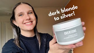 Dying My Dark Blonde Hair With Overtone Vibrant Silver!