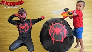 BIGGEST Spider-Man Spider-Verse Surprise Egg Toy Collection Opening Fun With CKN