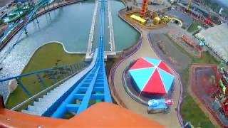 ENERGYLANDIA 2018 Zator Speed Water Coaster (110km/h) POV - Amusement Park