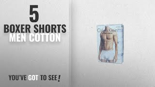 Top 10 Boxer Shorts Men Cotton [2018]: Calvin Klein Underwear Mens Pack Of 3 Trunk Shorts