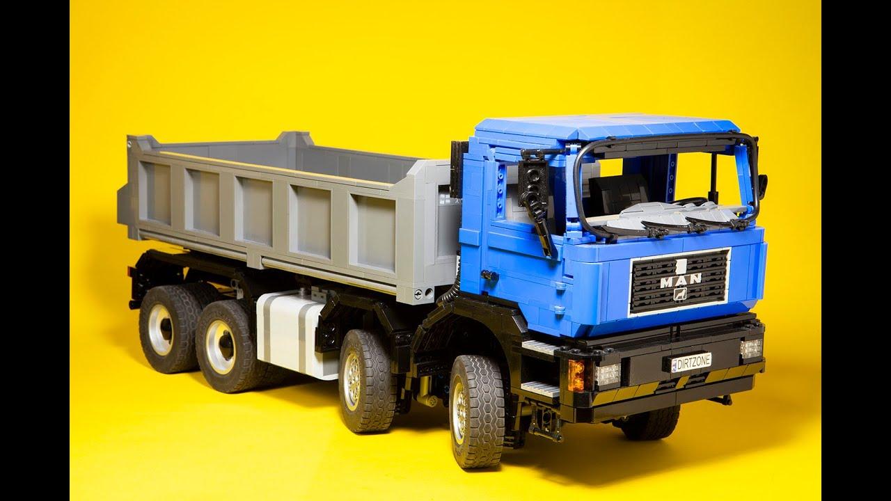 Копия MAN-a F90 в мини-версии. Любитель построил ее из кубиков LEGO