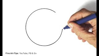 How to Draw a Perfect Circle Freehand - 3 hacks and techniques
