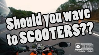 Waving At Scooters?