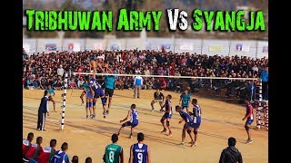 त्रिभुवन अार्मी Vs स्याङ्जा फाईनल भलिबल / Tribhuwan Army Club Vs Syangja final volleyball