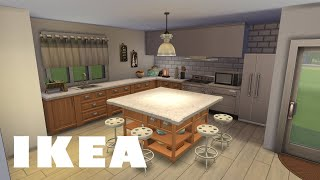 IKEA Inspired Kitchen In The Sims 4 (NO CC)