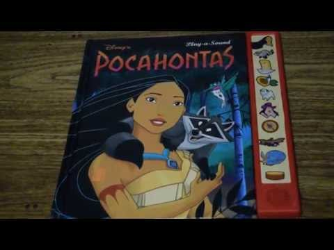 Disney's Pocahontas Golden Sound Story ELECTRONIC PLAY-A-SOUND BOOK 90s Toy
