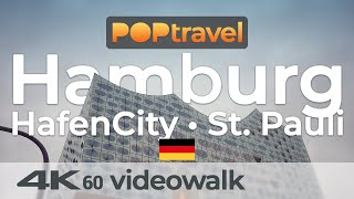 Walking In HAMBURG / Germany - HafenCity To St. Pauli - 4K 60fps (UHD)