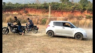SWIFT VS BULLET 500 & BULLET 350 TOCHAN TEST (1200 CC VS 850CC ) TUG OF WARS