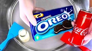 Coca-Cola & OREO Ice Cream Rolls   how to make Oreo & Cola to Ice Cream   most satisfying ASMR Food