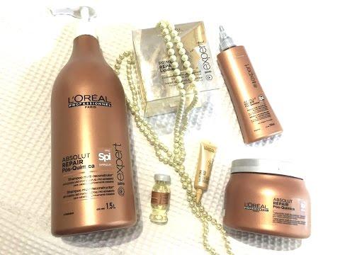 Resenha L'oreal Absolut Repair Pós Química como repor a massa dos cabelos com escova progressiva