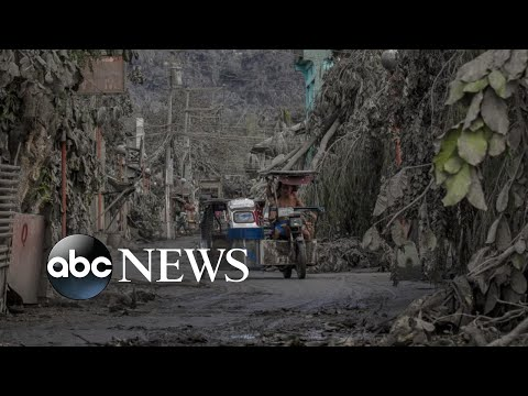 Empty villages covered in ash as volcanic eruption looms l ABC News