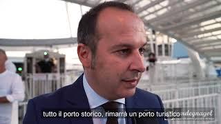 Inaugurazione della ruota panoramica nel Porto di Cagliari.