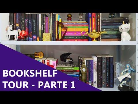BOOKSHELF TOUR - PARTE 1/3 ?? | Biblioteca da Rô