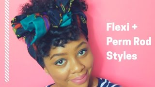 4 Hairstyles For Flexi/Perm Rod Sets