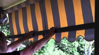 Operation Fabric Awning Auto Guide Arm