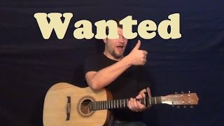 Wanted (Hunter Hayes) Guitar Lesson Easy Strum Chord Licks How To Play Wanted Tutorial