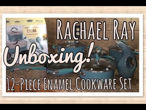 Unboxing: Rachael Ray Enamel Cookware Set (First Impressions!) | The Green Notebook