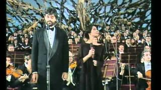 Duetto Giorgia-Bocelli, CANTO DI NATALE 1994.avi