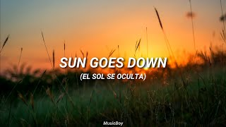 Sun Goes Down - Robin Schulz, Subtitulada en español HD