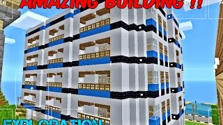 Normal Building With Flats In Minecraft Exploration Lite
