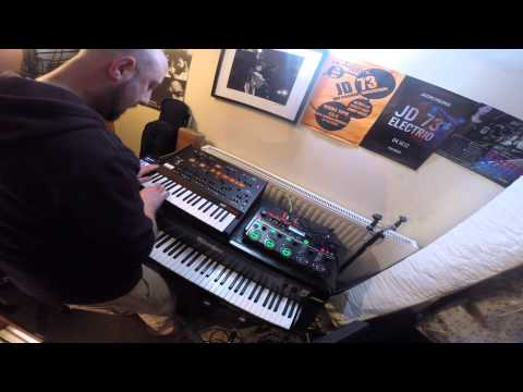 JD73 2015 ARP Odyssey ElectroFunk Jam! (with Rhodes MK7 and Boss RC505)