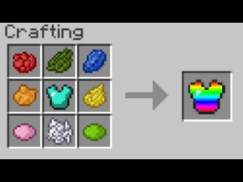 Crazy Minecraft Crafting Recipes (How to Dye Any Armor in MCPE)