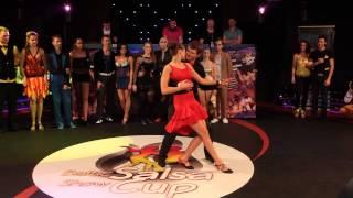Laura Žemaitytė & Eimantas Rudys | Tumbao ir City Dance | Bachata Open | Baltic Salsa Show Cup 2014
