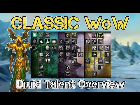 Classic Vanilla WoW: Quick Guide Druid [Leveling Talents