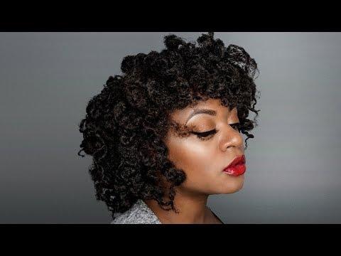 4c Perm Rod Twistout & Updo   4c Natural Hair styles