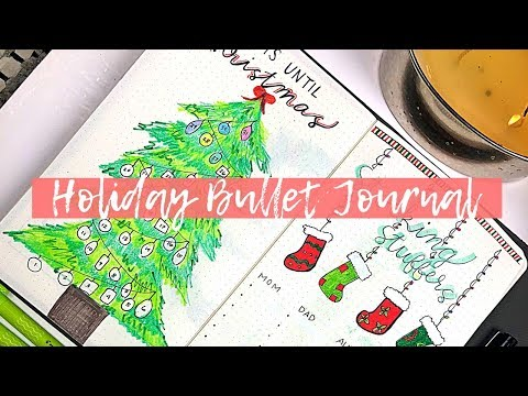PLAN WITH ME - Holiday Bullet Journal Set-Up | CHRISTMAS SPREADS | Lucie Fink