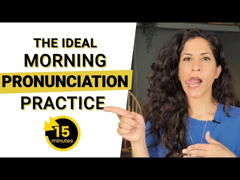 15 Minute Morning Pronunciation Practice for English Learners