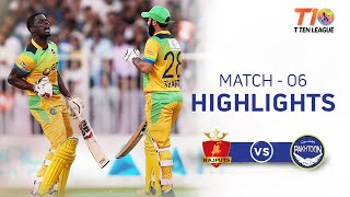 Match 6, Pakhtoon vs Rajputs, T10 League Season 2